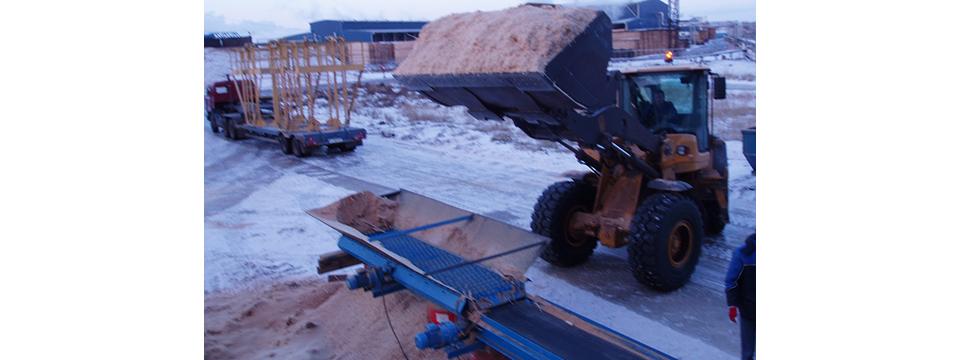 Испытания дисковой сортировки на 25 Лесозаводе г Архангельска